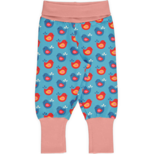 Maxomorra Pants Bright Birds