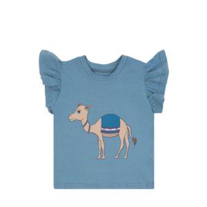 30,90Dear Sophie Camel Blue Frill Tank