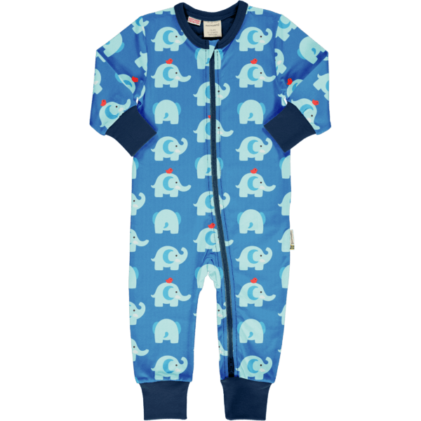 Maxomorra Elephant FriendsRompersuit LS