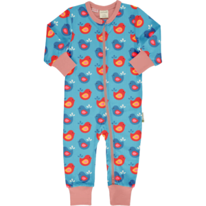 Maxomorra Rompersuit LS Bright Birds