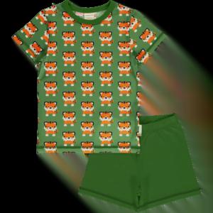 Maxomorra Tangerine Tiger Playsuit