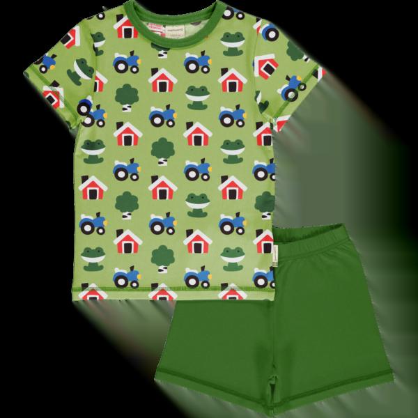 Maxomorra Forest Farm Pyjama Set SS
