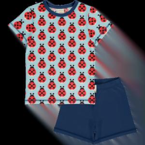 Maxomorra Lazy Ladybug Pyjama Set SS