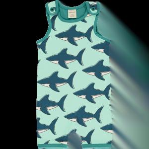Maxomorra Shark Playsuit Short