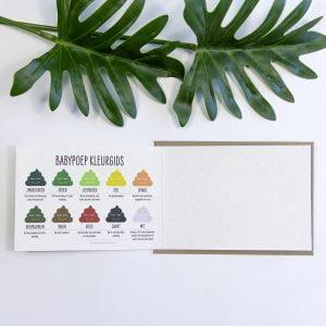 Postkaart Baby gemaakt van Olifantengras