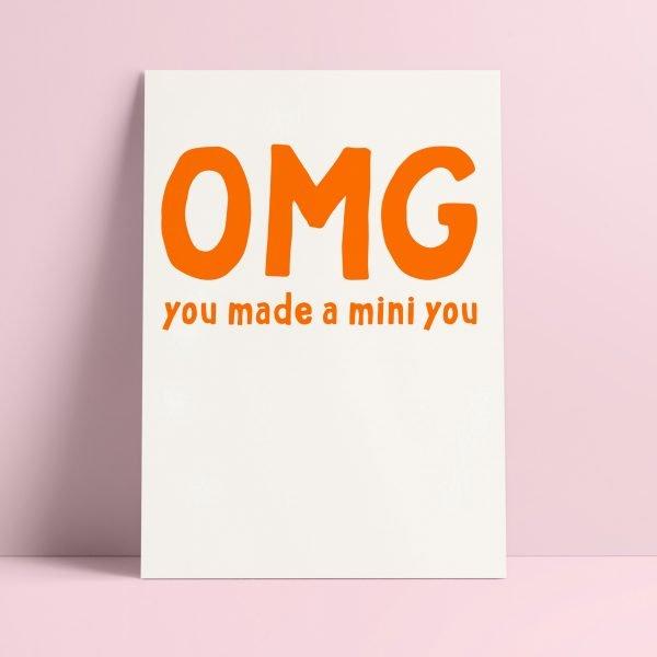 Studio inktivs OMG you made a mini you kaart