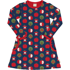 Maxomorra Dress LS Apple