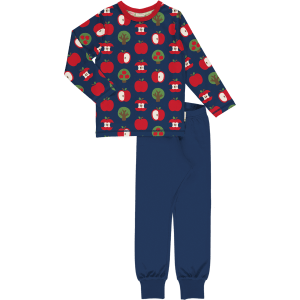 Maxomorra Pyjama Set LS Apple
