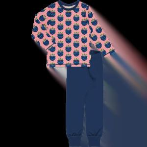 Maxomorra Pyjama Set LS Blackberry