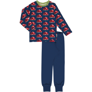 Maxomorra Pyjama Set LS Fire Truck
