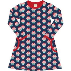 Maxomorra Dress LS CUPCAKE