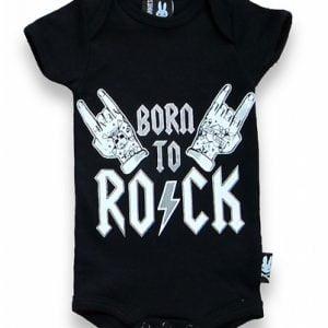 Six Bunnies Born to Rock Romper Peetjes Favorieten