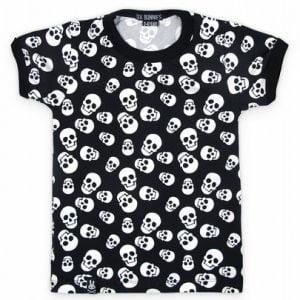 Six Bunnies Polka Skulls T-shirt Peetjes Favorieten