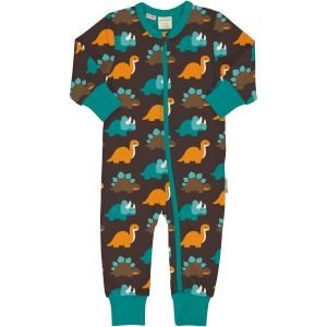 Maxomorra Rompersuit LS DINOSAURS