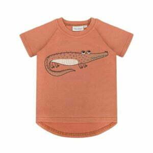 Dear Sophie Crocodile T-shirt Red Brick