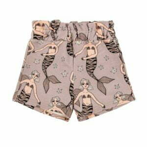 Dear Sophie Mermaid Purple-Grey Paperbag Shorts