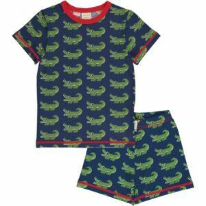 Maxomorra Pyjama Set SS CROCODILE