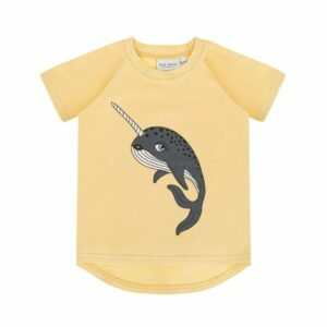 Dear Sophie Narwhal Pale Yellow T-shirt