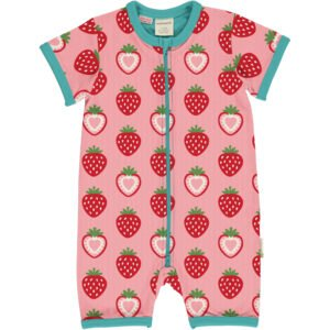 Maxomorra Rompersuit SS STRAWBERRY