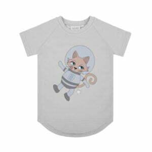 Dear Sophie Astrocat T-shirt Grey