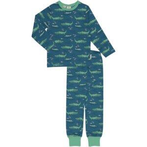 Meyadey Pyjama Set LS CROCODILE WATER
